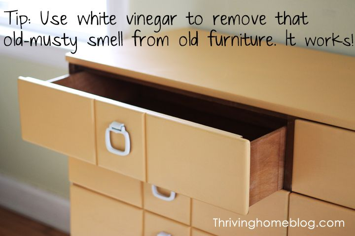 how to get rid of paint smell on furniture