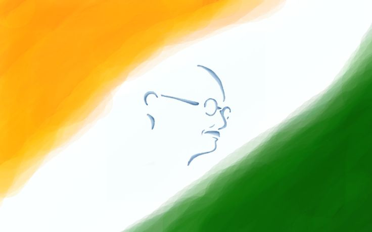 Flags of Countries – Three colors as Flags of India Symbol with Mahatma Gandhi