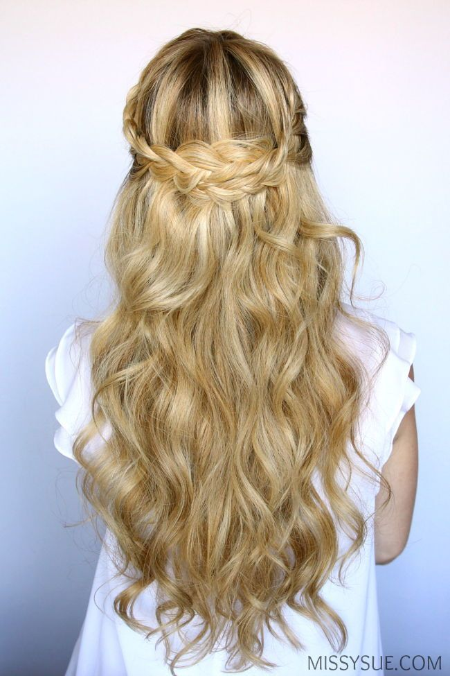 15 Easy Prom Wedding Hairstyles For Medium To Long Hair You Can Diy At Home With Step To Step Simple Prom Hair Braids With Curls Prom Hairstyles For Long Hair
