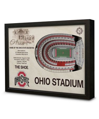 Another great find on #zulily! Ohio State Buckeyes Ohio Stadium Wall Art #zulilyfinds