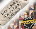 QNW how to string piece a quilt full episode