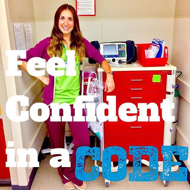 RN Nurse tips. Nursing Student: Tips on how to feel confident in a code - at MegForIt.com.