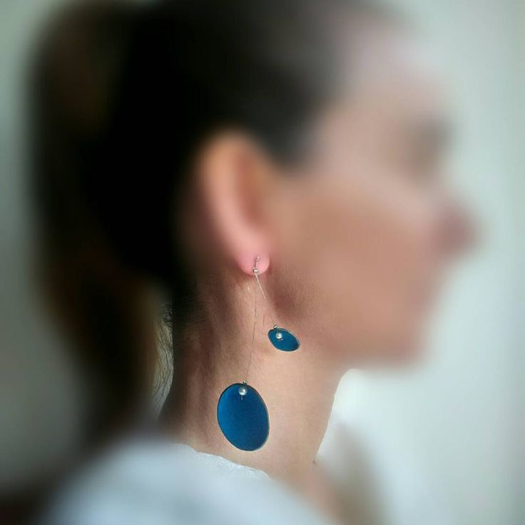 SkinToSkinCreations-Mobile circles jewelry leather earrings