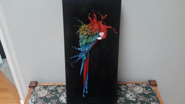 Melting Parrott -oil painting by denise reichert - easel life
