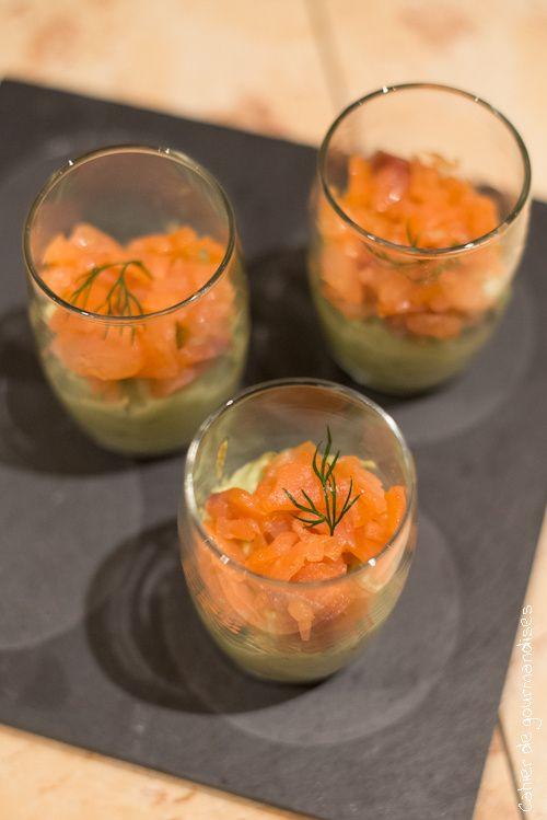 Verrines Saumon & Avocat - Avocado & Salmon Verrines