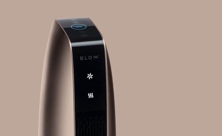 BLOW_4  @ kimseungwoo.com ____________________________ slim air purifier heater convex smooth surface thin black silver gold color easy usability