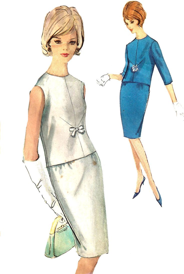 64 Best Fashion Images On Pinterest 1930s 30s And Cardinal Formal Slim Fit Office Pants Abu 32 1960s 2 Piece Dress Pattern Skirt Overblouse Collarless Top Vintage Simplicity Sewing Womens Misses Size 12