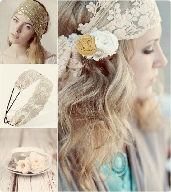 easy and beatutiful headband hairstyle with long wavy blonde hair extensions clip on