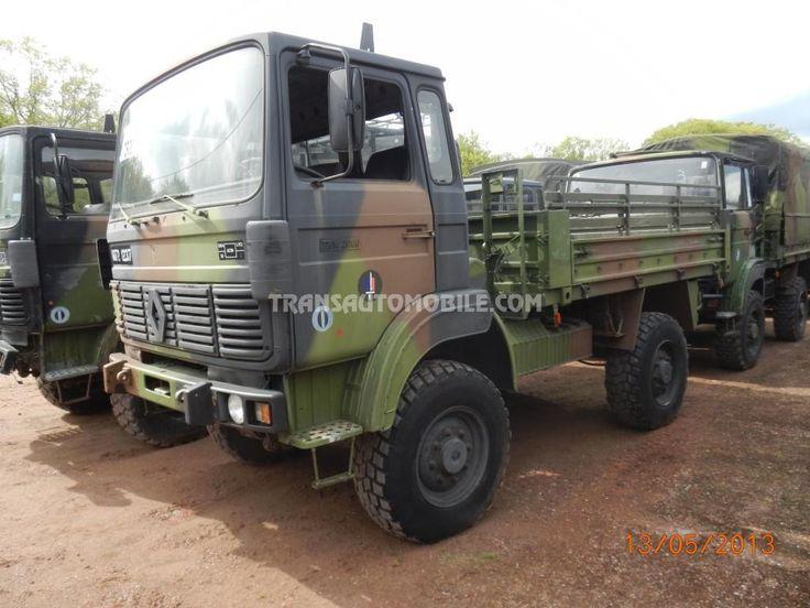 Trucks Flatbed Renault TRM 2000 EX ARMY 4X4 https://www.transautomobile.com/en/export-renault-trm-2000/1458?PI