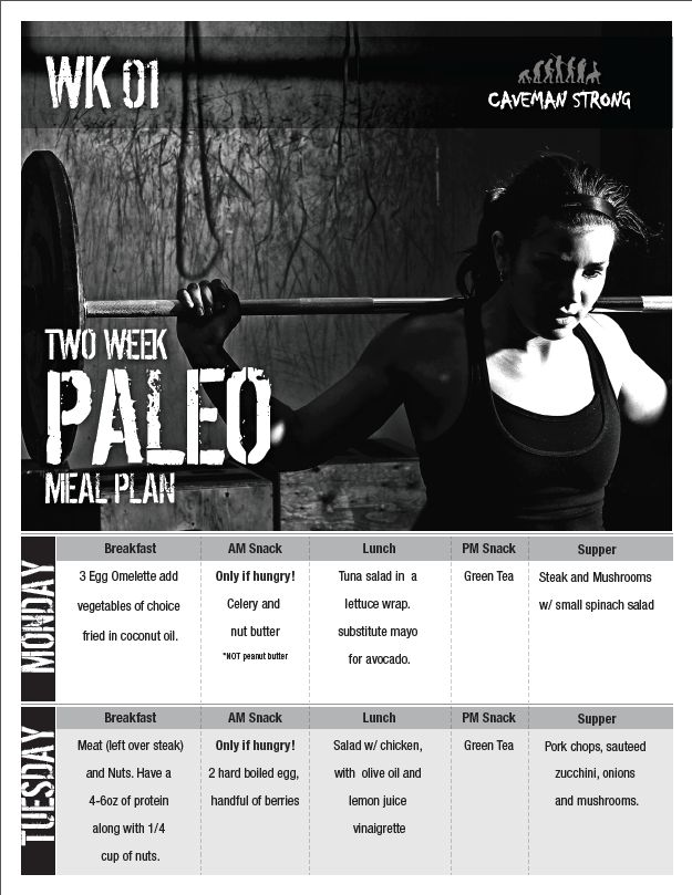 7 Day Paleo Meal Plan