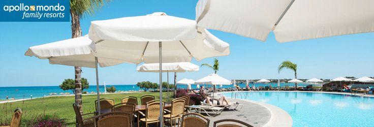 Relaxpoolen på hotel Mythos Beach i Afandou, Rhodos. med privat pool. 20k i april
