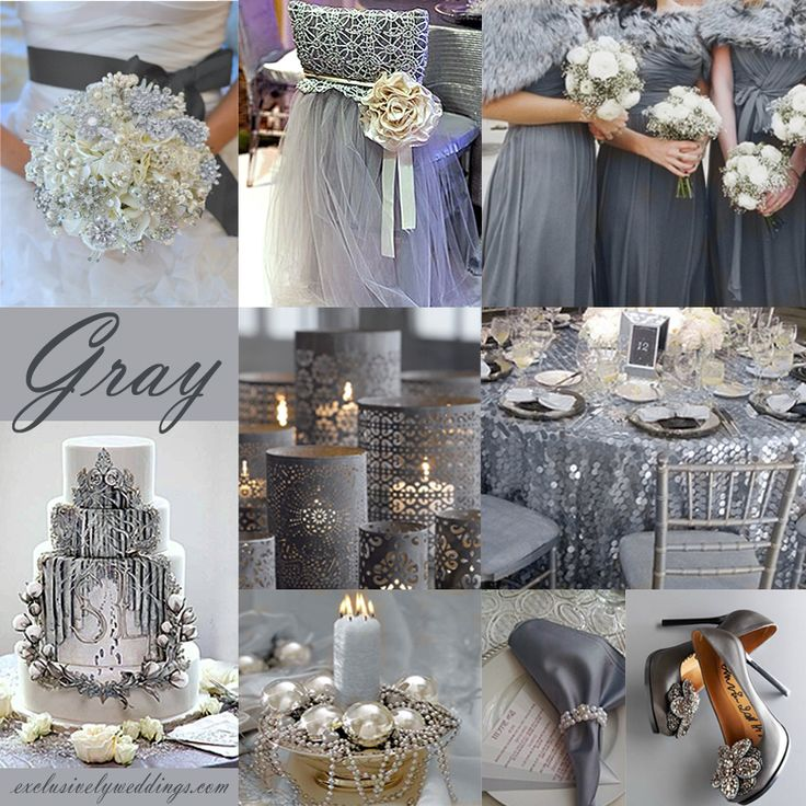840 best Silver, Gray, Glitzy Glam Wedding images on Pinterest ...