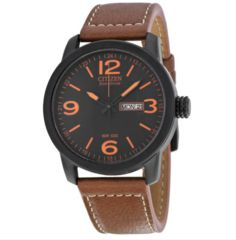 Citizen Eco Drive Brown Leather