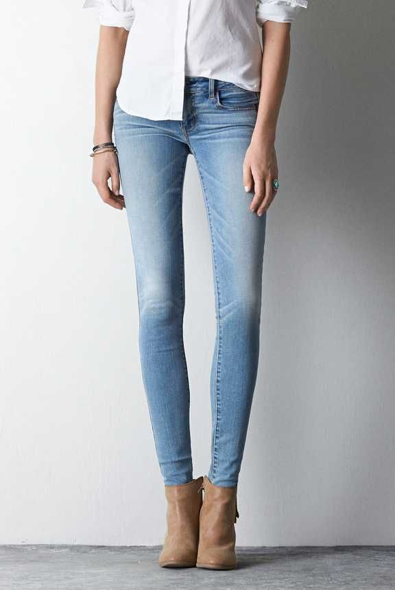 AEO Jegging in Authentic Light. Our sexiest, skinniest fit. Looks like a jean, feels like a legging. #AEOSTYLE