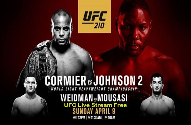 UFC 210 is an Upcoming MMA event with the main light heavyweight title between Cormier and Johnson on 8th April. Watch UFC 210 Live Stream Free here.