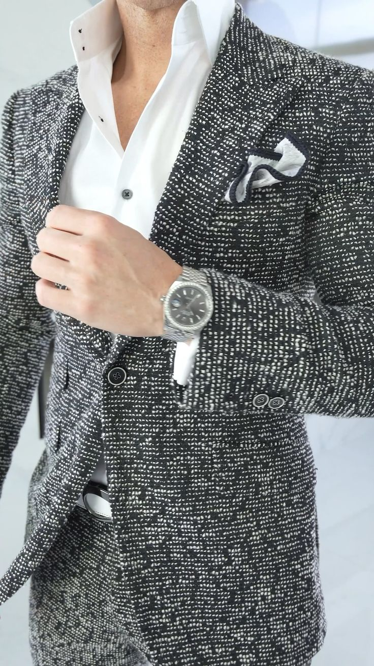Fitted Suit, Groom Style, Black Suits, Sports Jacket, Wedding Suits, Mens Suits, Loafers Men, Bespoke, Tweed