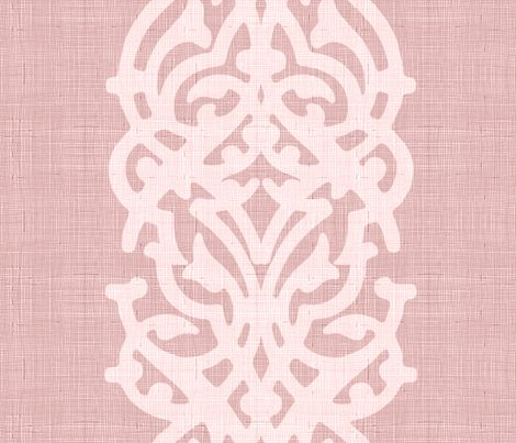 arabesque_linen_pink fabric by chicca_besso on Spoonflower - custom fabric