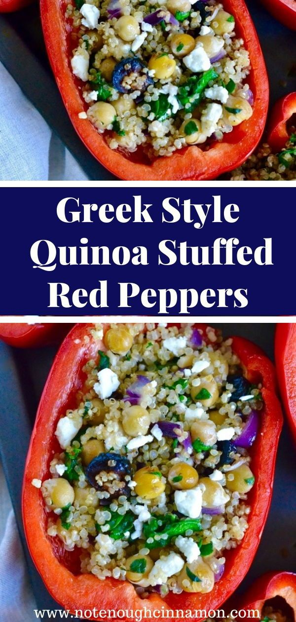 Greek Style Quinoa Stuffed Bell Peppers Recipe In 2020 Stuffed Peppers Tasty Vegetarian Recipes Stuffed Bell Peppers