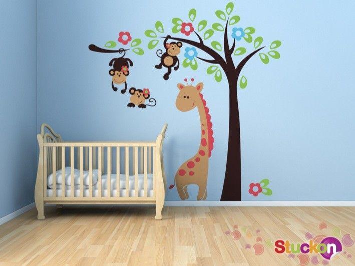 Monkeys and Giraffe | stuckon.com.au