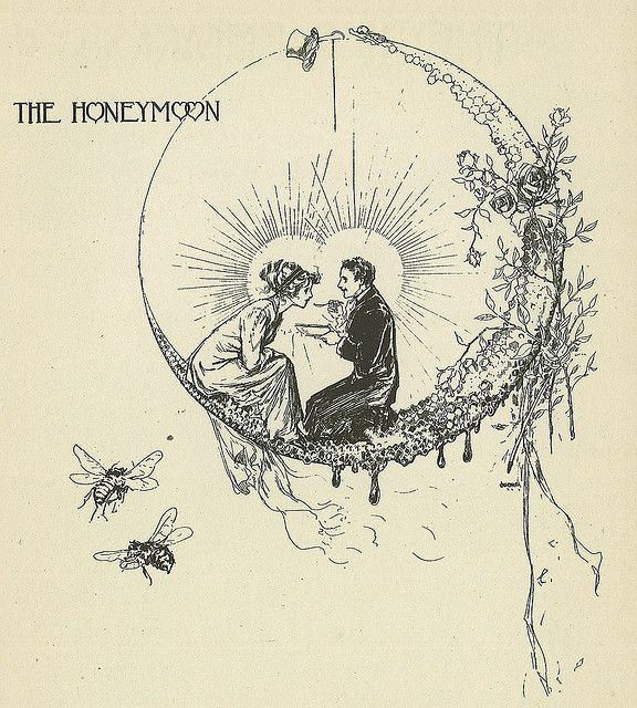 beautiful image from an edwardian bridal book by john r. neill, illustrator and the artist for most of the oz books