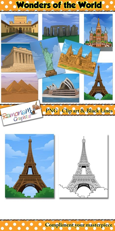 Scenes of some of the most amazing structures in the world - great for social studies related projects