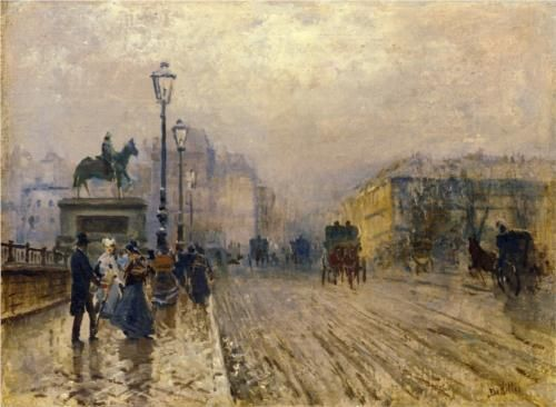 Rue de Paris with Carriages - Giuseppe de Nittis
