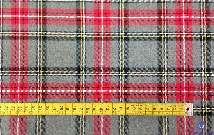 Venta online y en tienda de Ponferrada de Cuadros Escoceses Gris y Rojo, ideal para confección de faldas, vestidos, etc. Tacto suave y agradable