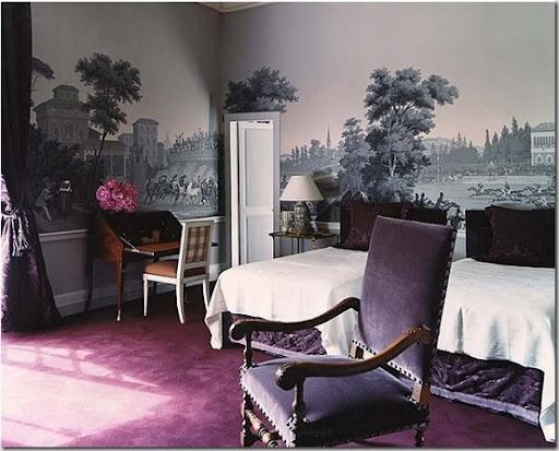 Zuber WallcoveringsGuest Room, Dreams Home, Design Interiors, Bedroom Wallpaper, Bedrooms Wallpapers, Interiors Design, Home Decor, Master Bedrooms, Purple Bedrooms