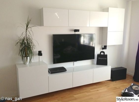Besta floating media cabinet