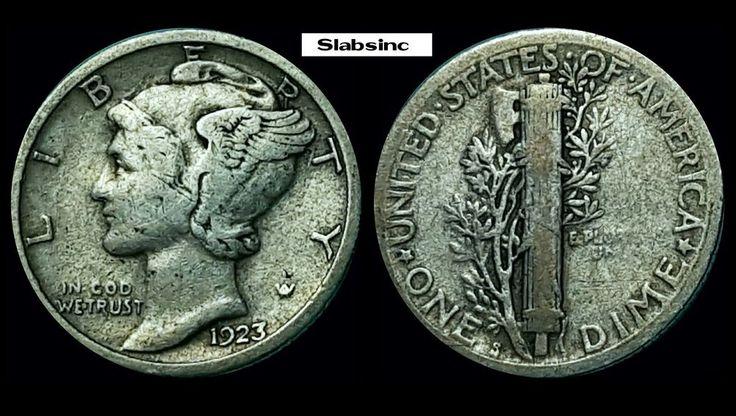 1923-S Mercury Dime, Key Date, San Francisco Mint,  Free Shipping! | Coins & Paper Money, Coins: US, Dimes | eBay!