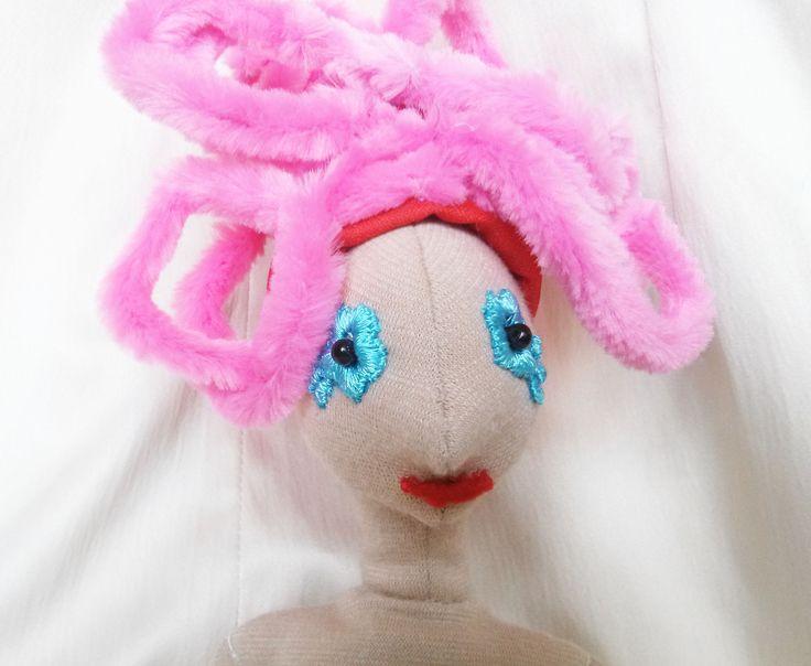 DIY haj - rózsaszín zsenília 2 behajtogatva