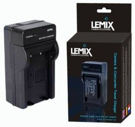 Lemix (LP-E10) fast charger for battery Canon LP-E10 LPE10 LP E10; LC-E10 LC-E10E ACK-E10 for Canon EOS 1100D / EOS Rebel T3 / KISS X50 with car adaptor, UK and EU plugs