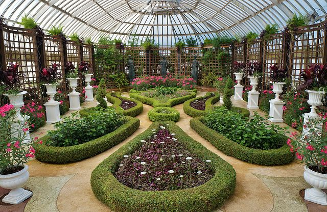 Formal victorian conservatory design with nerium for Victorian conservatory plans