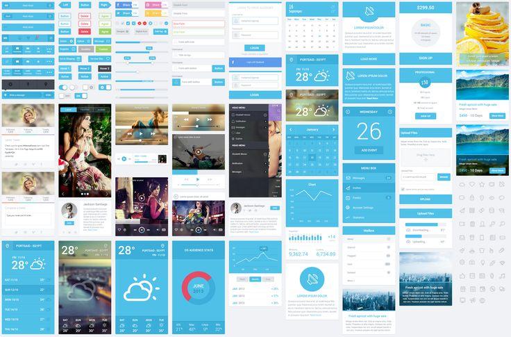 Flatastic UI Kit PSD pour Mobile