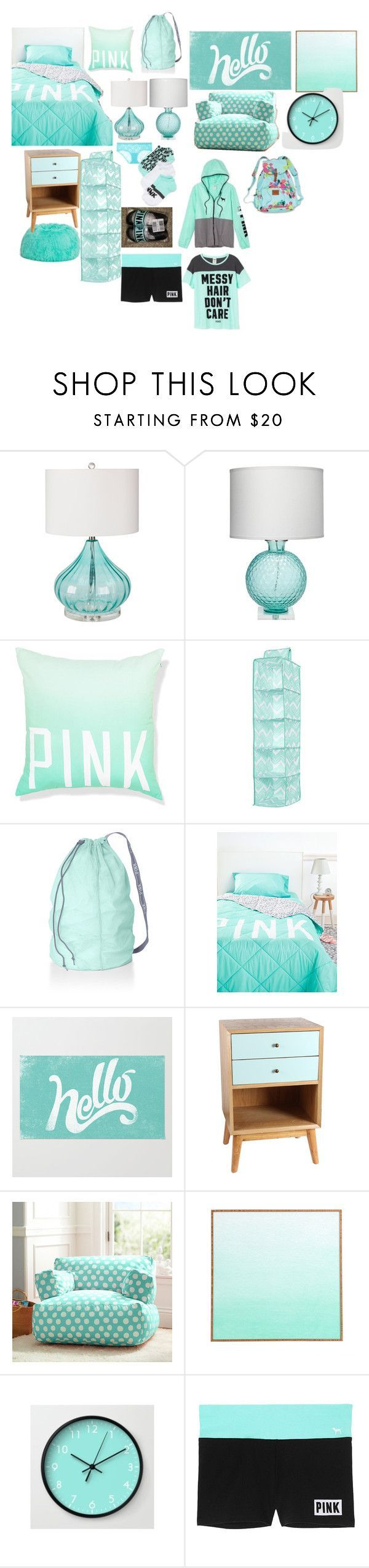 """Teen bedroom"" by turnerjazmyne on Polyvore featuring interior, interiors, interior design, home, home decor, interior decorating, Surya, Jamie Young, Victoria's Secret PINK and Antique Revival"