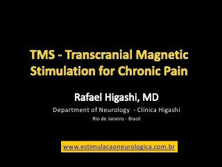 Transcranial Magnetic Stimulation ( TMS) for Chronic Pain