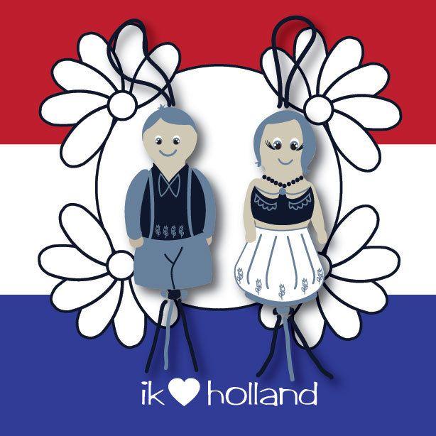 Sticker Ik hou van #holland www.hipenstipkaarten.nl