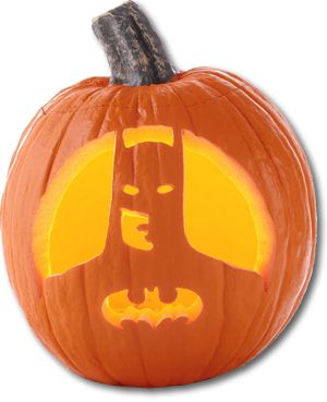 superhero pumpkin love classic batman!!!