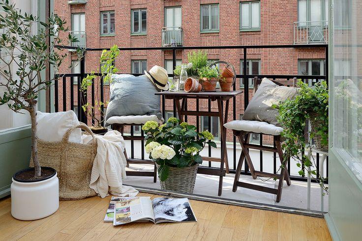 шведский дизайн интерьера балкона
