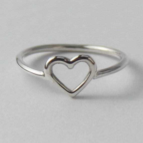 Heart Ring , Sweet, Romantic sterling silver ring  http://www.etsy.com/listing/95516430/heart-ring-sweet-romantic-sterling