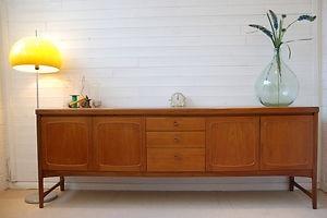 7FT LONG NATHAN TEAK SIDEBOARD - RETRO, VINTAGE, MID CENTURY, DANISH STYLE | eBay