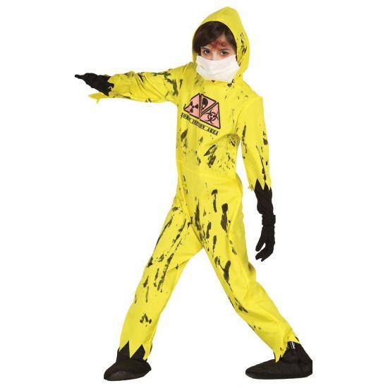Geel nuclear zombie kostuum voor kinderen. Carnavalskleding 2016 #carnaval