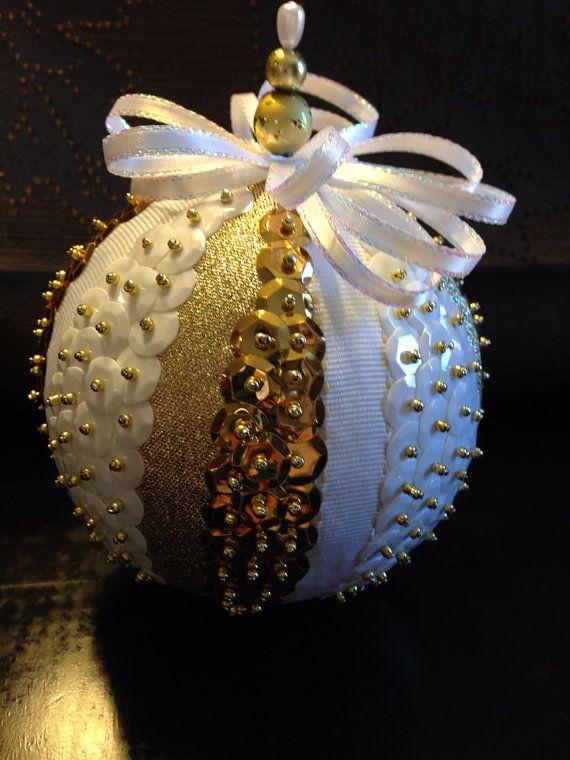 Handmade sequin ornament on Etsy, $18.00