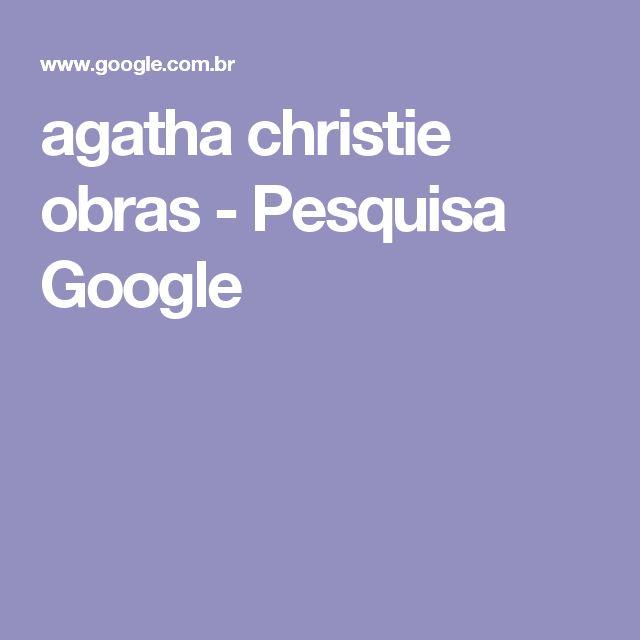 agatha christie obras - Pesquisa Google
