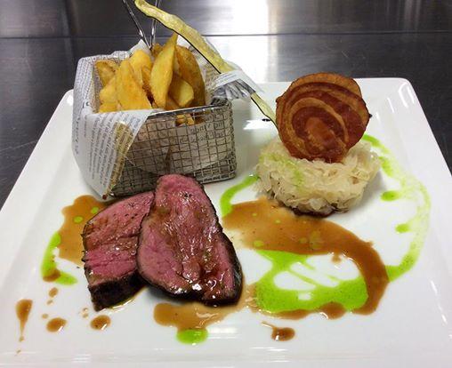 Tender roast of beef with sauerkraut #restauranttaverne #hotelinterlaken