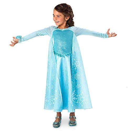 Disney Frozen Elsa Deluxe Costume with LightUp Bracelet Size 78 Blue *** Read more reviews of the product by visiting the link on the image.