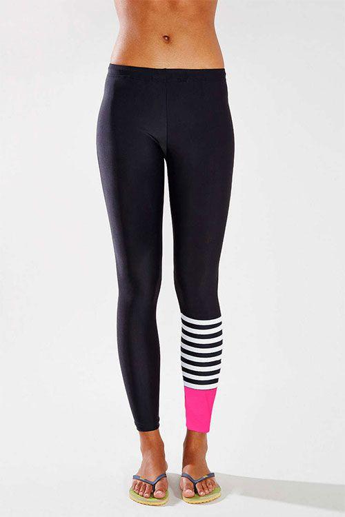 $3.96// Women's Asymmetrical Striped Workout Leggings// Delivery: 1-2 weeks