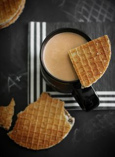 Sprinkle Bakes: Homemade Stroopwafels. OMG I LOVE Stroopwafels!!  I don't have a waffle cone maker, but I do have a stove top pizzelle iron that should work.