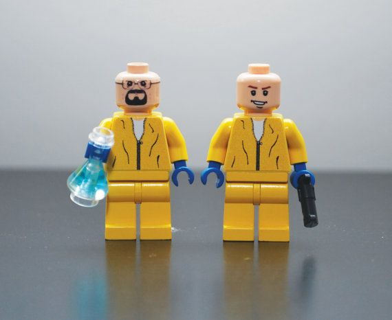 Custom Minifigures BREAKING BAD Walter White & Jesse by MiniMenCo, $64.99