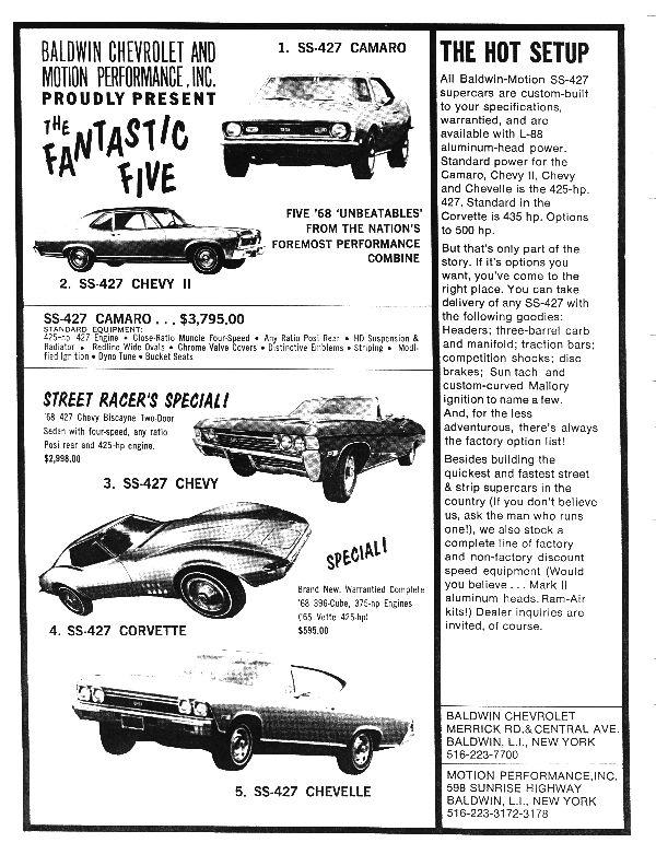 The Baldwin Motion Copo Automotive Ads Commercials